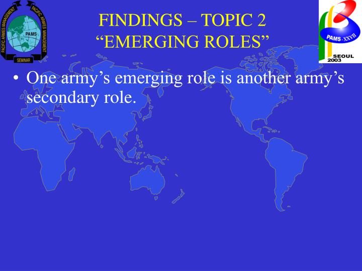 FINDINGS – TOPIC 2
