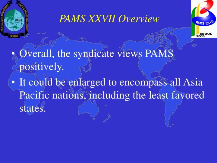 PAMS XXVII Overview