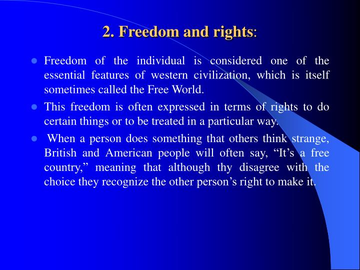 2. Freedom and rights