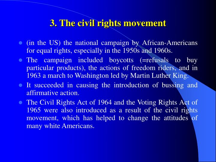 3. The civil rights movement