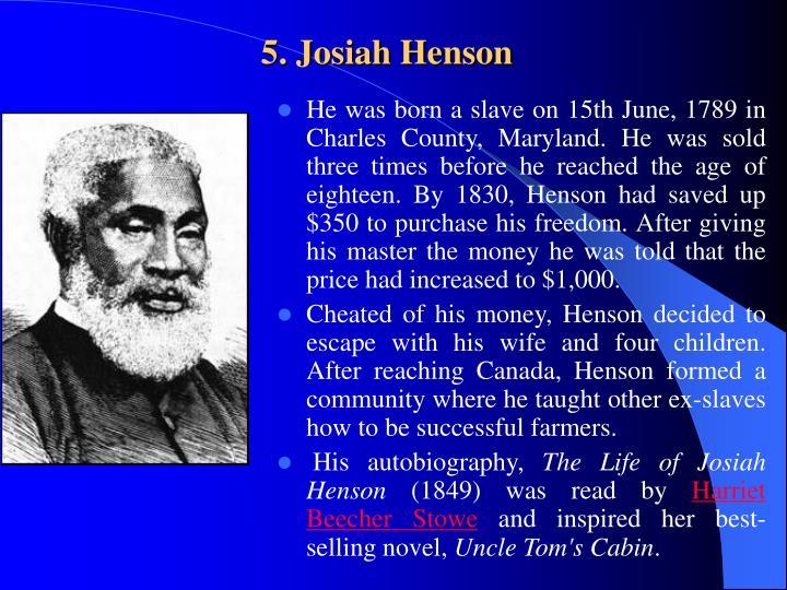5. Josiah Henson