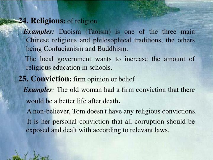 24. Religious