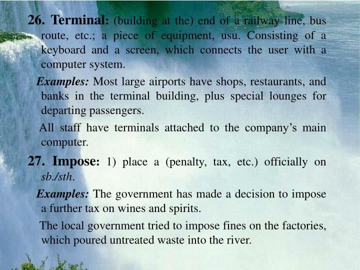 26. Terminal