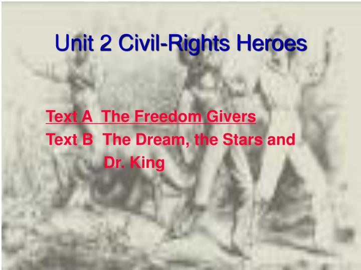 Unit 2 civil rights heroes