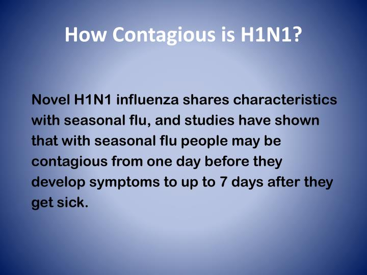 How Contagious is H1N1?