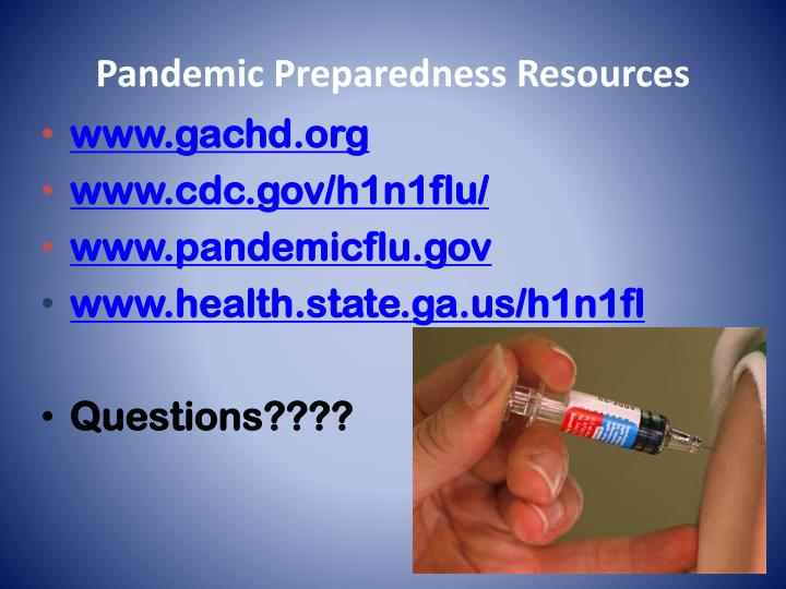 Pandemic Preparedness Resources
