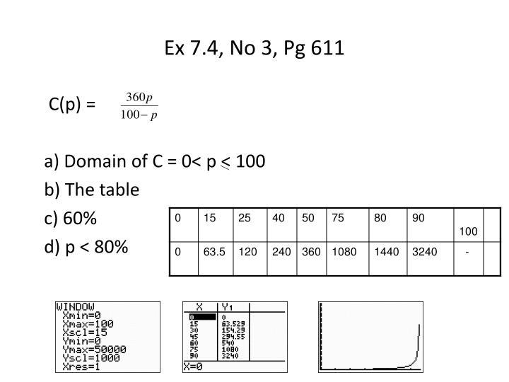 Ex 7.4, No 3, Pg 611
