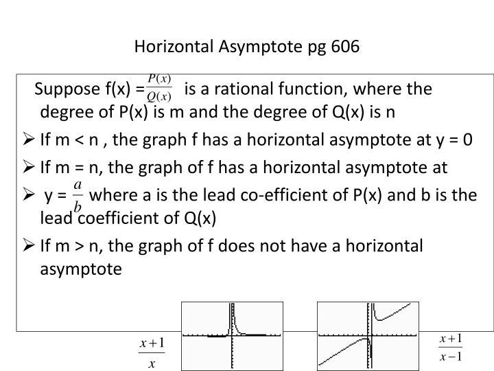 Horizontal Asymptote pg 606
