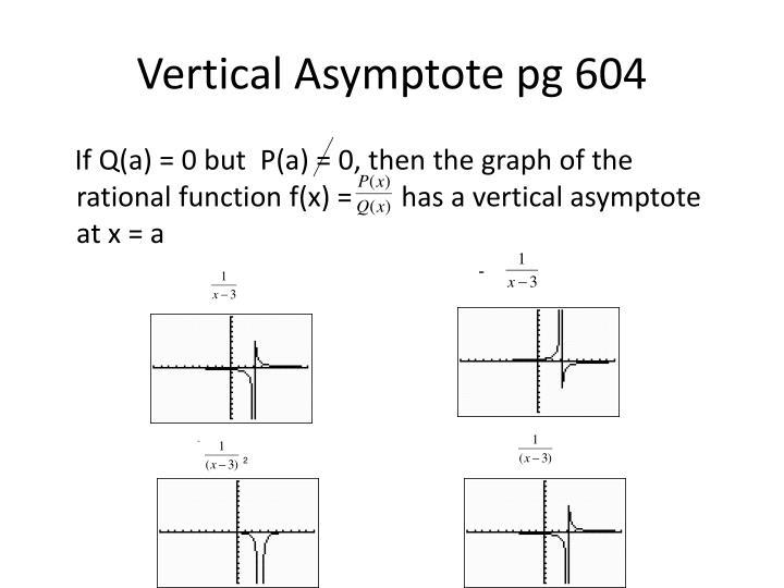 Vertical Asymptote pg 604