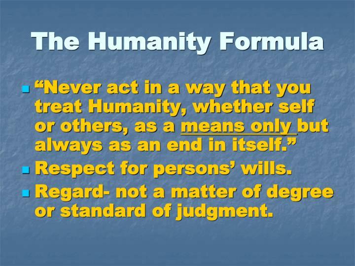 The Humanity Formula