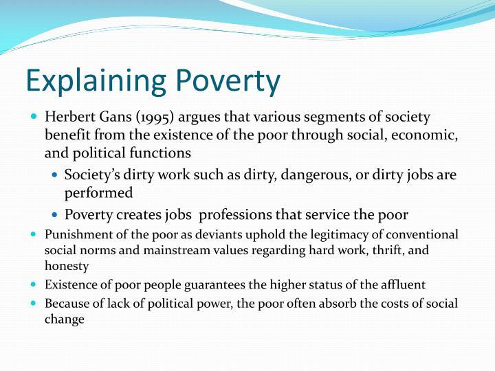 Explaining Poverty