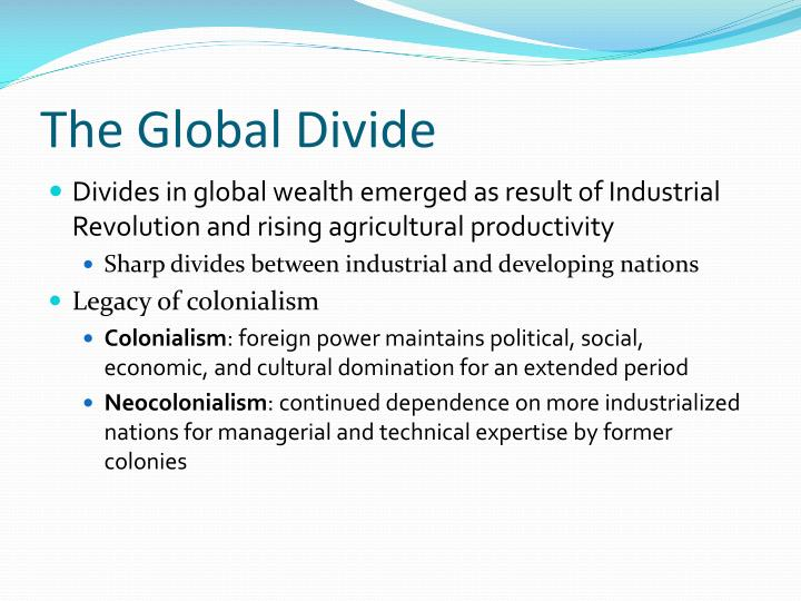 The Global Divide
