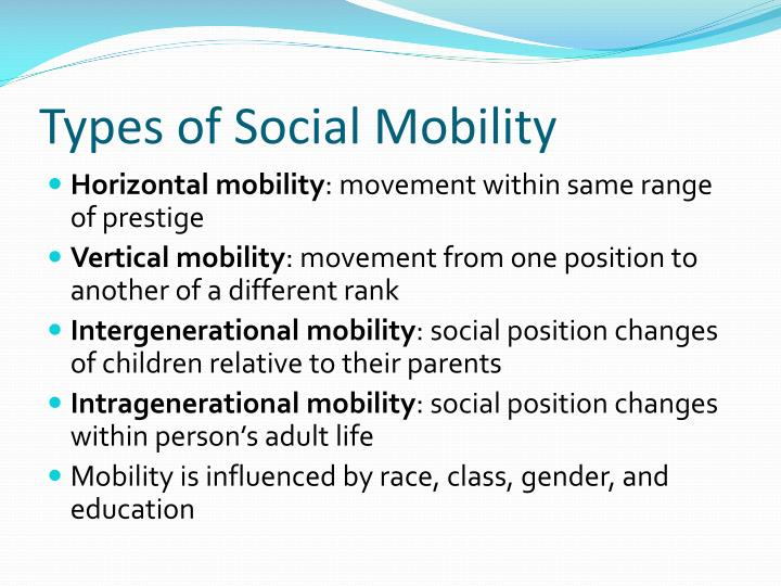 Types of Social Mobility