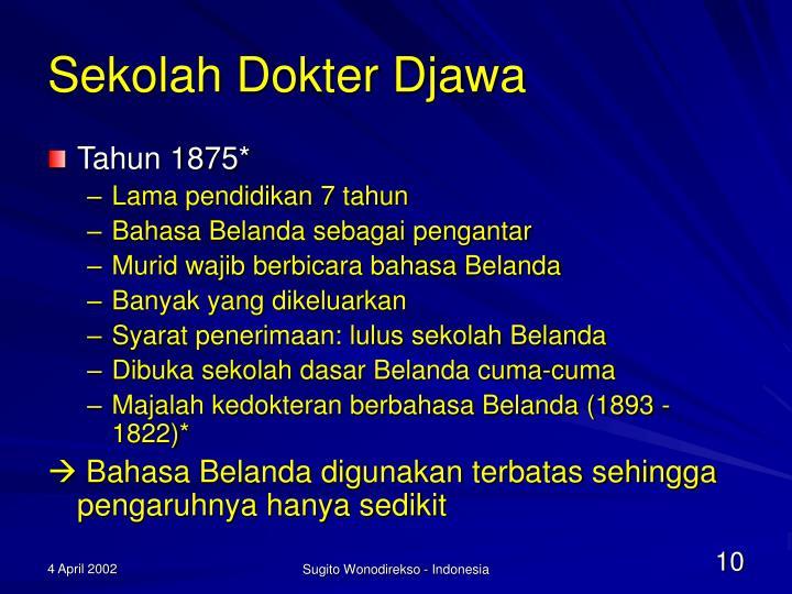 Sekolah Dokter Djawa