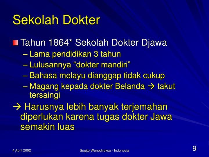 Sekolah Dokter