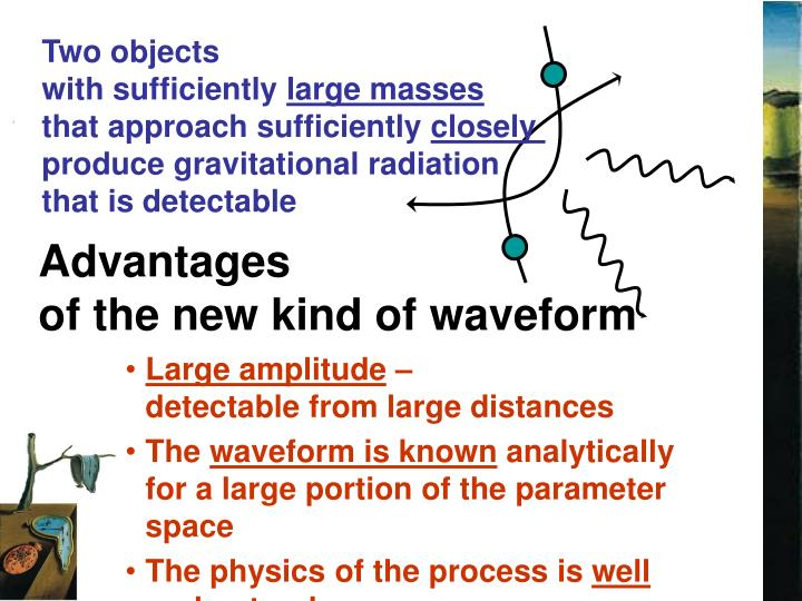 Advantages of the new kind of waveform