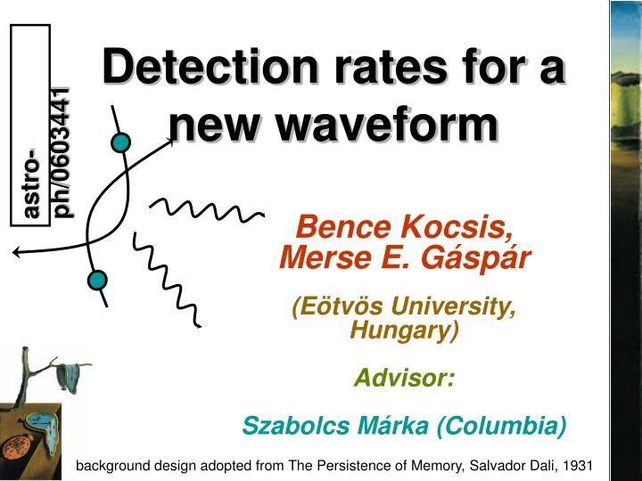 Detection rates for a new waveform