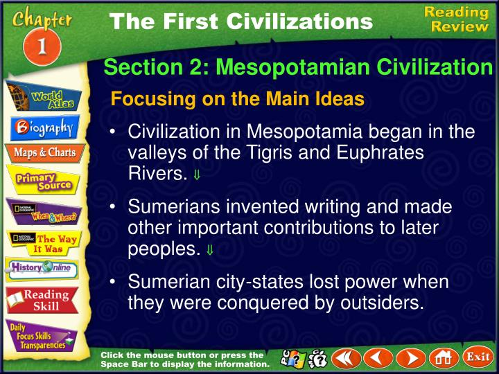The First Civilizations
