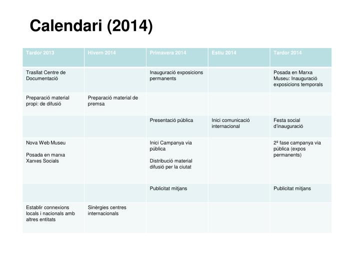 Calendari (2014)