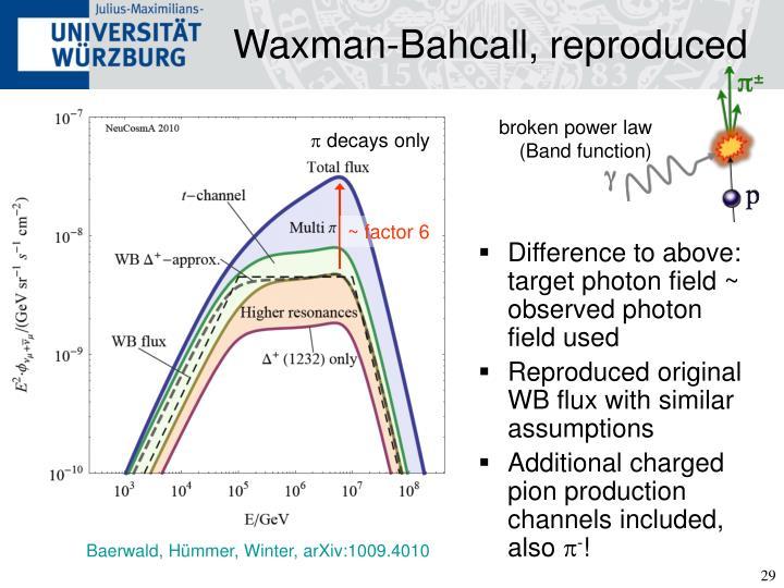 Waxman-Bahcall, reproduced
