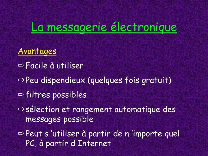 La messagerie électronique