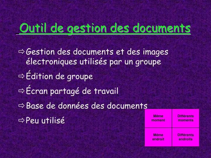 Outil de gestion des documents