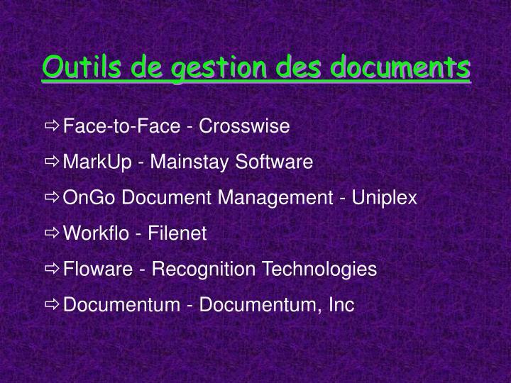 Outils de gestion des documents
