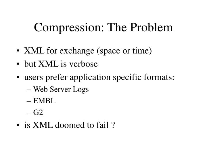 Compression: The Problem