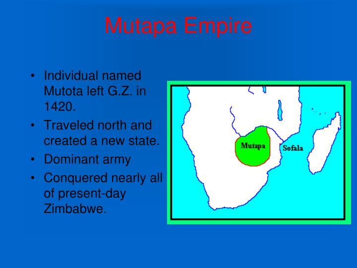 rise of mutapa state