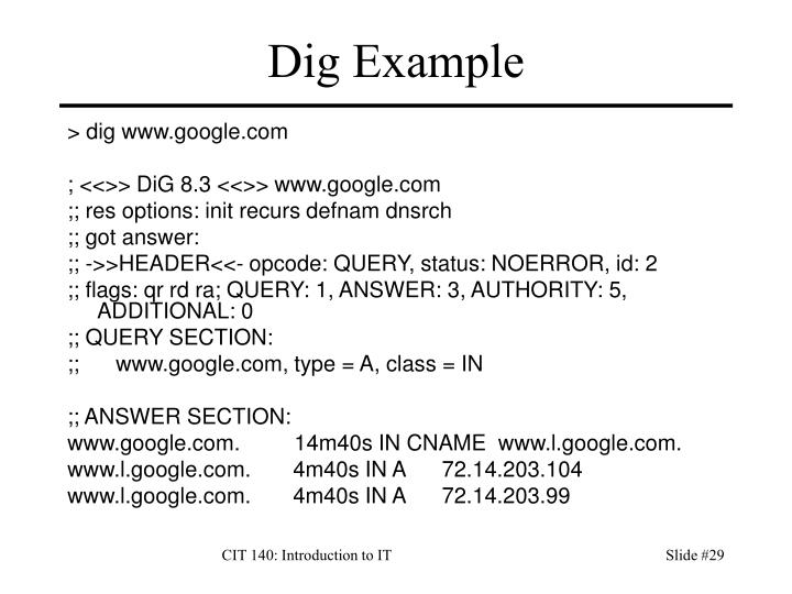 Dig Example