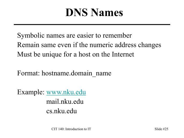 DNS Names
