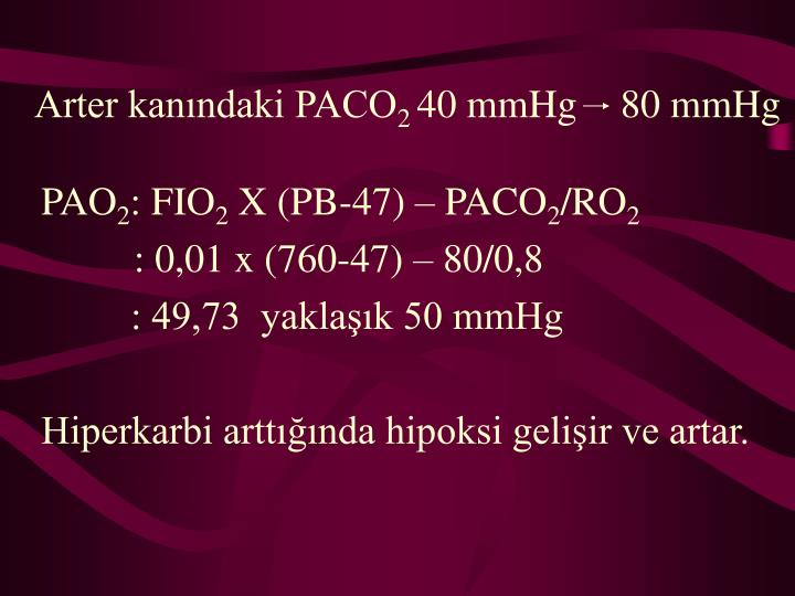 Arter kanındaki PACO