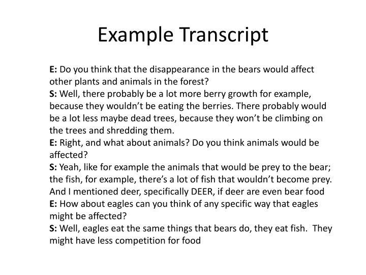 Example Transcript