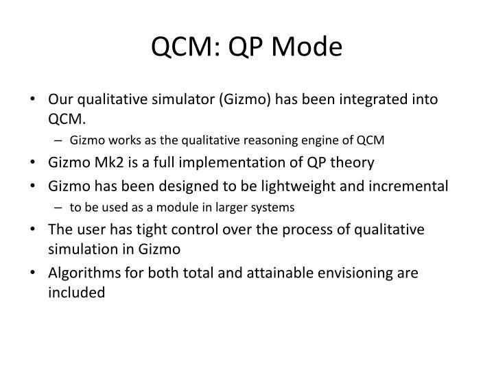 QCM: QP Mode