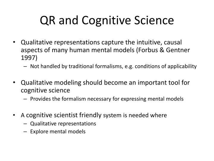 Qr and cognitive science