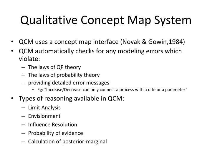 Qualitative Concept Map System