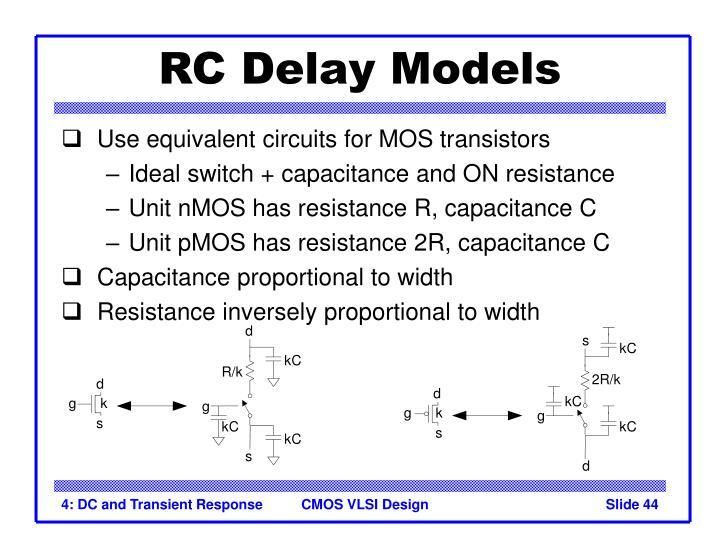 RC Delay Models