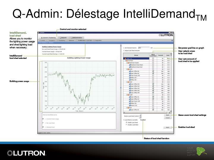 Q-Admin: Délestage IntelliDemand