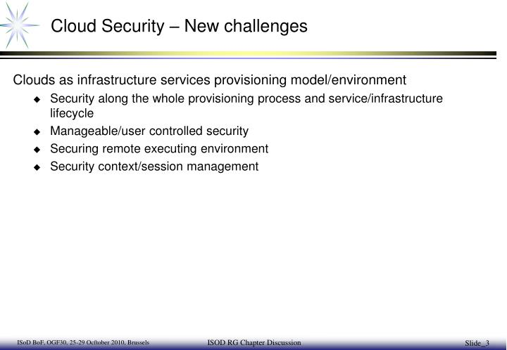 Cloud Security – New challenges