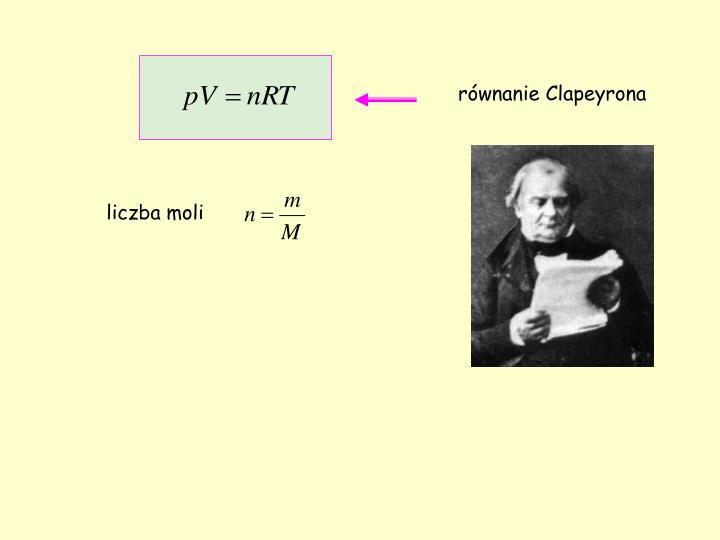 równanie Clapeyrona
