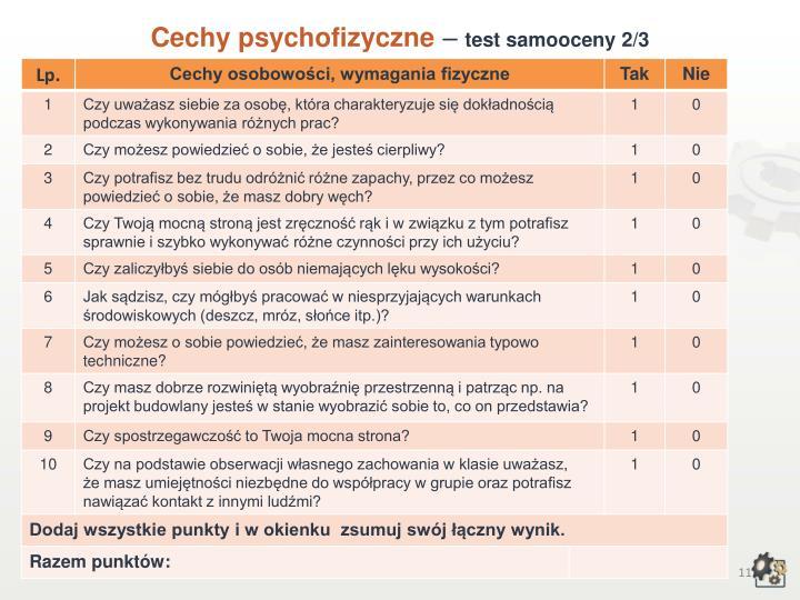 Cechy psychofizyczne