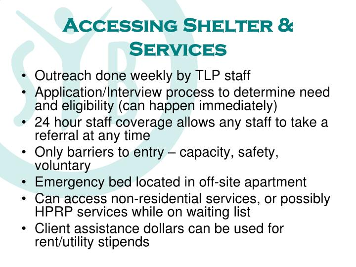 Accessing shelter services