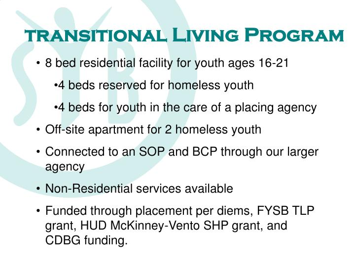 Transitional Living Program