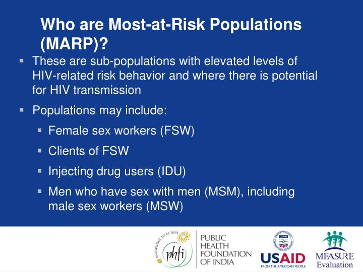 Who are Most-at-Risk Populations (MARP)?