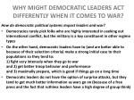 why might democratic leaders act differently when it comes to war2