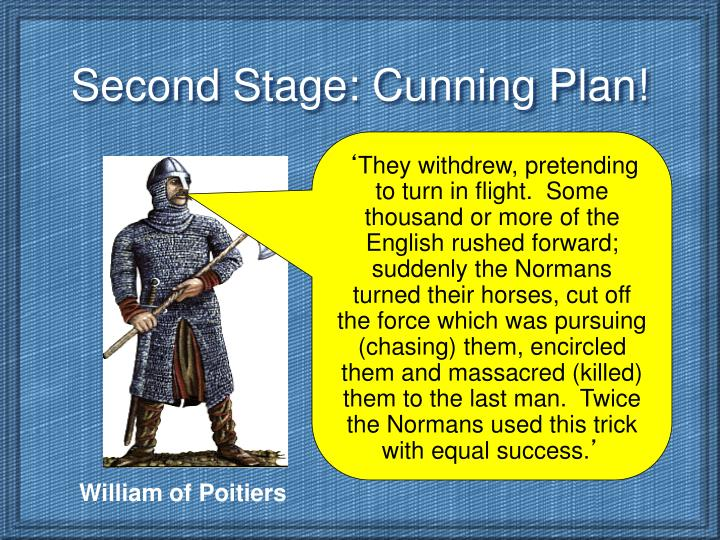 Second Stage: Cunning Plan!