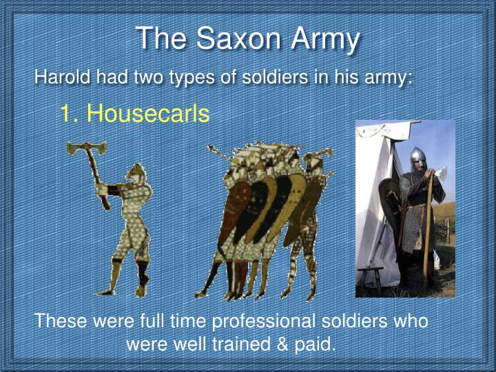 The saxon army