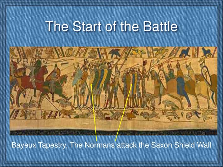 Bayeux Tapestry, The Normans attack the Saxon Shield Wall