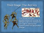 third stage the archers
