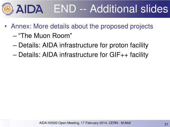 END -- Additional slides